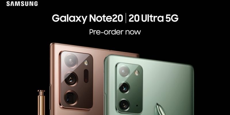 Pre-order The Samung Galaxy Note20